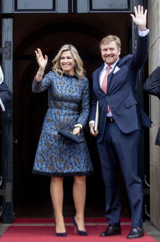 La reine Maxima et le roi Willem-Alexander à Amsterdam, le 14 janvier 2020