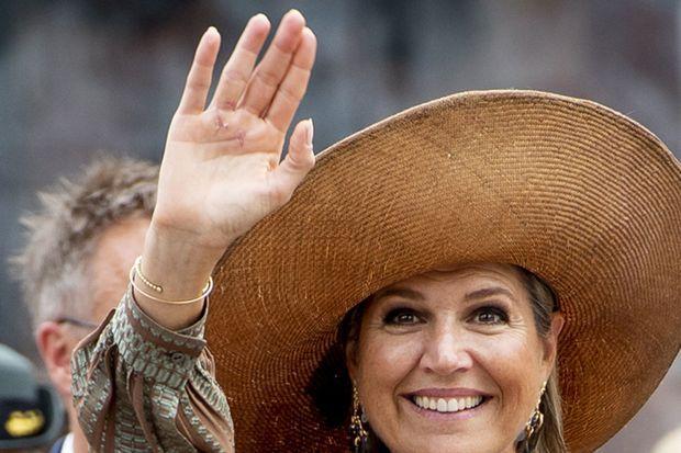 La main droite de la reine Maxima des Pays-Bas à Midden-Groningue le 15 septembre 2021