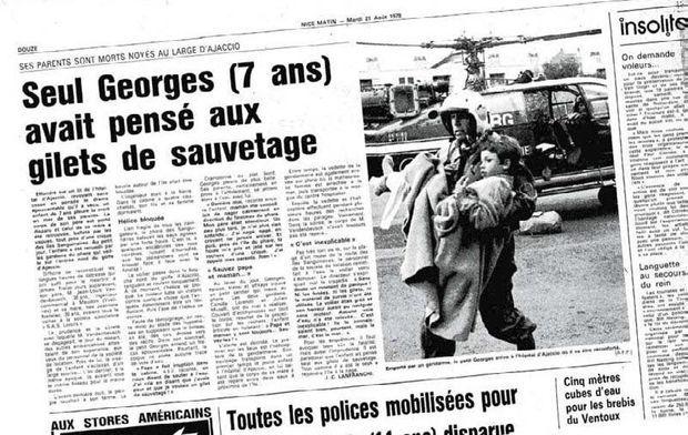 La coupure de presse de « Nice-Matin », le 21 août 1979, qui annonce la noyade accidentelle de ses parents.