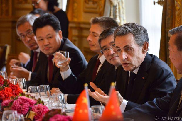 Nicolas Sarkozy lors d'un rendez-vous du Chinese Business Club, en octobre 2015.