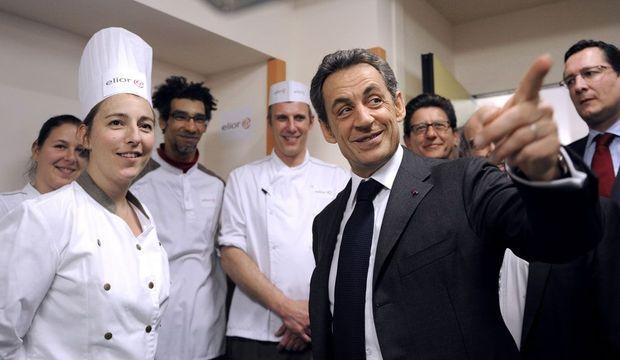 Nicolas Sarkozy Visite d'école à Montpellier-