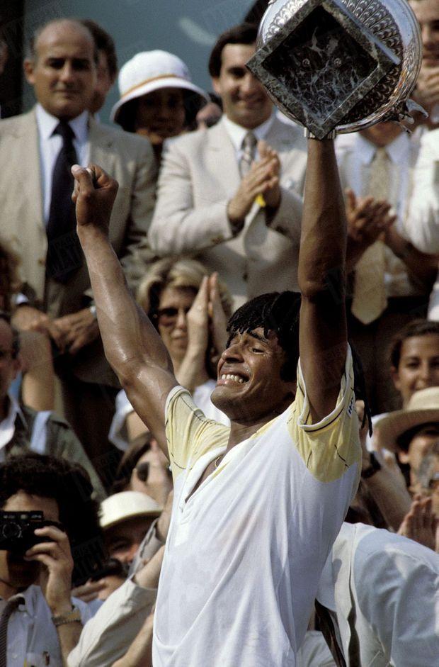 Yannick Noah, vainqueur de Roland-Garros, le 5 juin 1983.