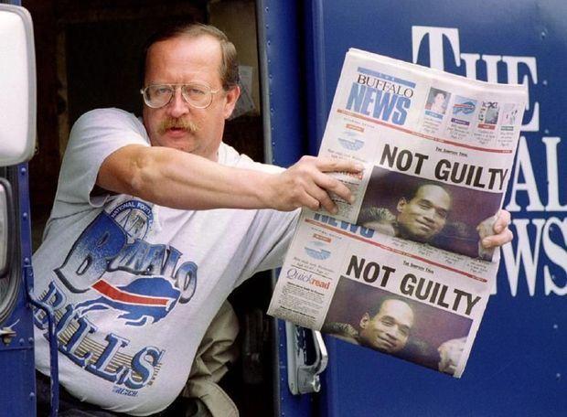 Non coupable titre la presse américaine