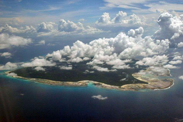 L'île de North Sentinel le 14 novembre 2005.