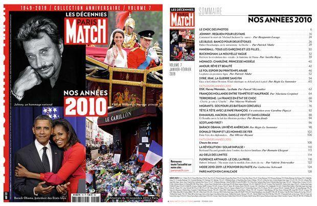"""""""Les décennies Paris Match : Nos années 2010"""", en vente actuellement chez votre marchand de journaux, 7,95 euros."""