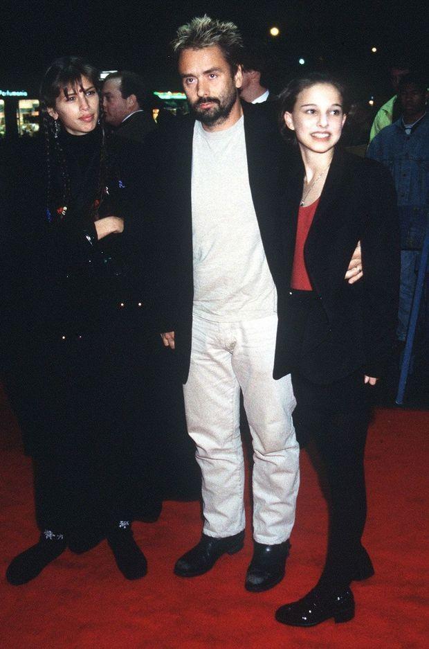 """Luc Besson et Natalie Portman à l'avant-première de """"Léon"""" à New York"""