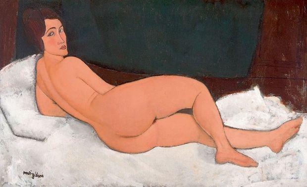 « Nu couché (sur le côté gauche) », huile sur toile, 1917.