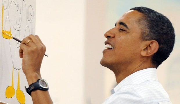Obama, ce peintre -
