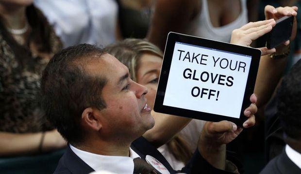 Obama gants supporter démocrate-