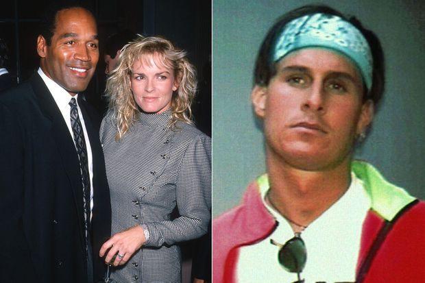 OJ Simpson est soupçonné d'avoir froidement assassiné son épouse Nicole Brown et son ami Ron Goldman (à droite)