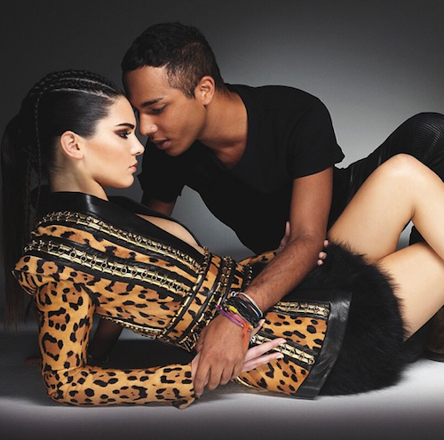 Olivier Rousteing et Kendall Jenner pour le magazine Style