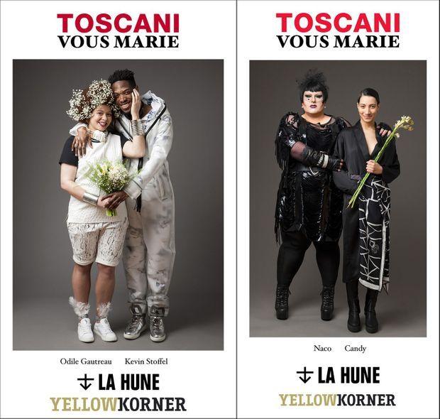 Odile et Kevin, Naco et Candy, deux couples mariés par Oliviero Toscani.