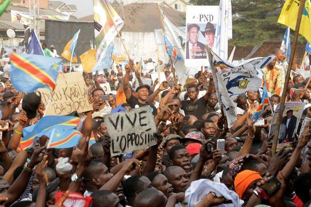 Supporteurs de l'opposition congolaise à Kinshasa, 31 juillet 2016