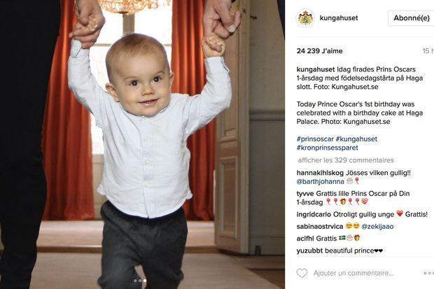 Photo du prince Oscar de Suède le 2 mars 2017, publiée sur le compte Instagram de la cour de Suède