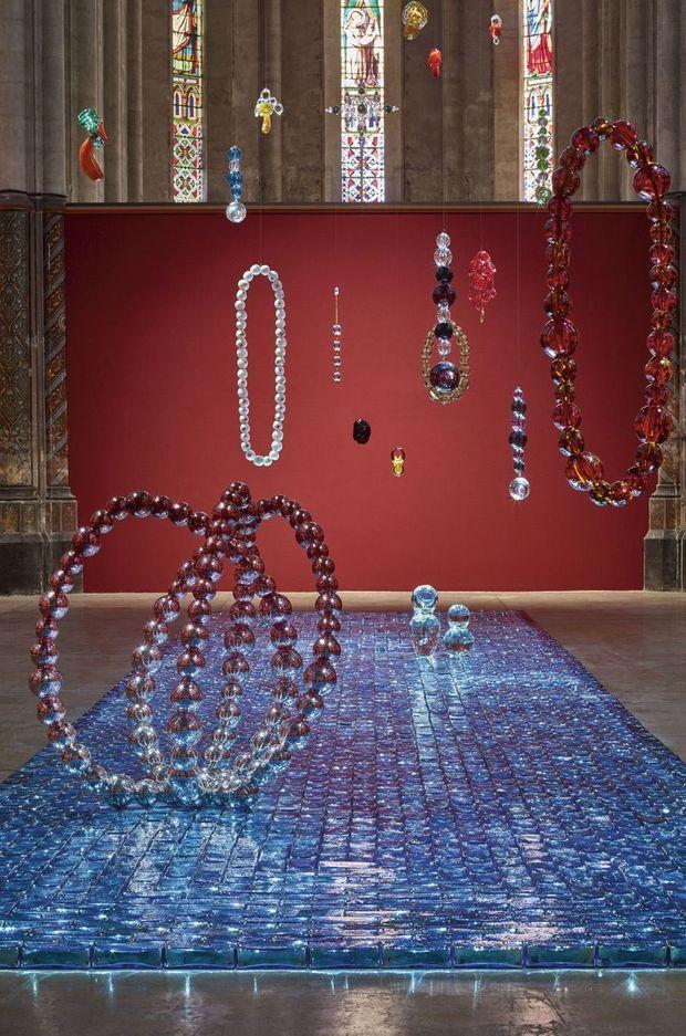 L'installation au Carré Sainte-Anne, une église consacrée à l'art contemporain, à Montpellier.