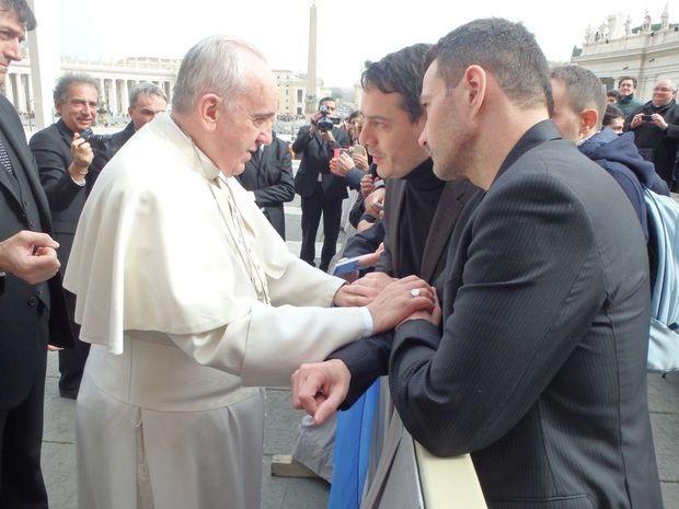 Le pape François, David Koubbi et Jérôme Kerviel.
