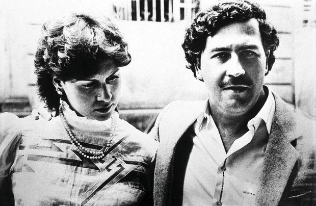 Pablo Escobar et sa femme Maria Victoria, avec qui il a eu deux enfants mais pas Phillip.