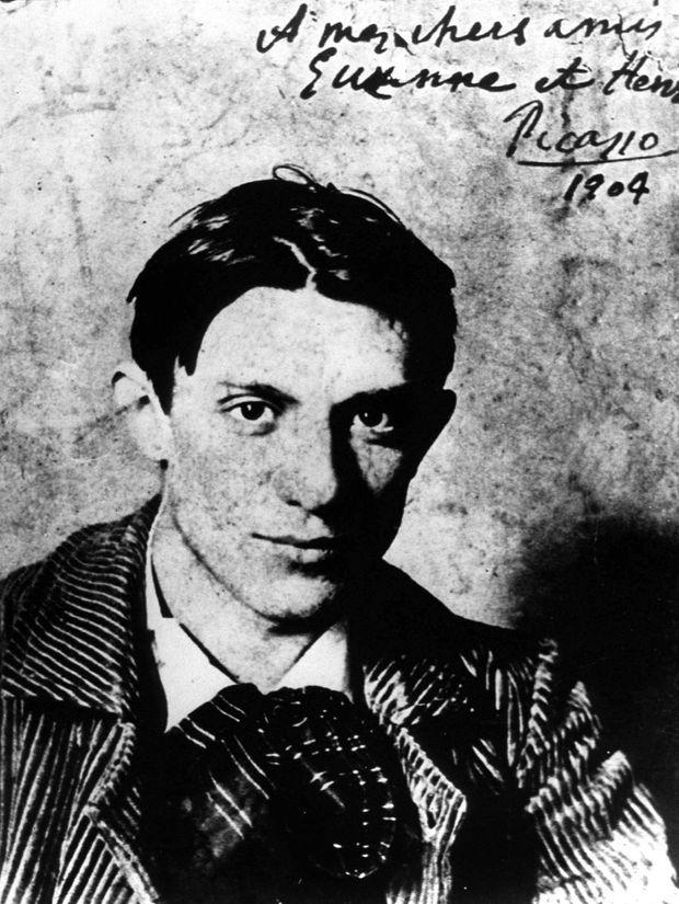 Pablo Picasso à l'âge de 23 ans, en 1904.