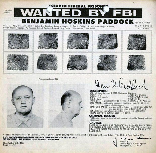 L'avis de recherche de Benjamin Hoskins Paddock