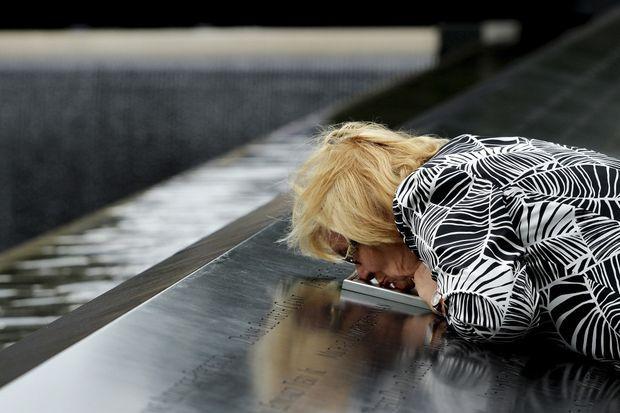 Paola Braut au mémorial dédié aux victimes du World Trade Center, le 11 septembre dernier.