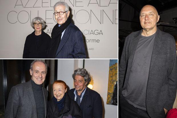 En haut, Didier Grumbach et sa sœur Sylvie. En bas, Xavier Romatet, Claude Brouet et Stéphane Wargnier. À droite, Pascal Morand.