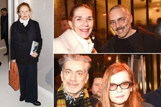 À gauche, Adeline André. En haut, Michèle Meunier et Olivier Chatenet. En bas, Marc Ascoli et sa femme Martine Sitbon.