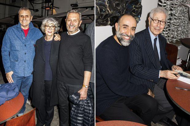 À gauche, Jean-Charles de Castelbajac, Sylvie Grumbach et Angelo Tarlazzi. À droite, Rabih Kayrouz et Didier Grumbach.