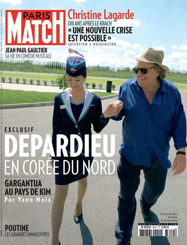 En couverture de Paris Match numéro 3619.