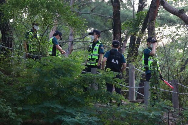 Opération de recherche de Park Won-soon à Séoul, le 9 juillet 2020.