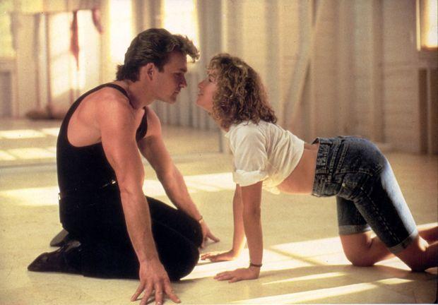 Patrick Swayze avec Jennifer Grey dans le film «Dirty Dancing», en 1987