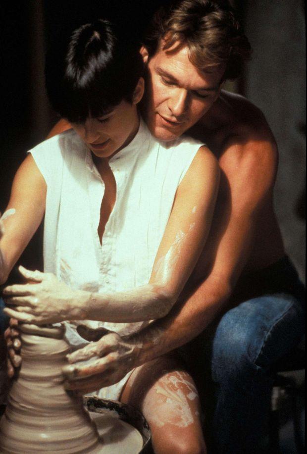 Patrick Swayze avec Demi Moore dans le film «Ghost», en 1990