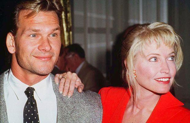 Patrick Swayze et son épouse Lisa, en 1992