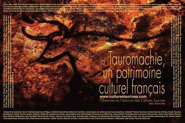 L'affiche diffusée par l'Observatoire National des Cultures Taurines.