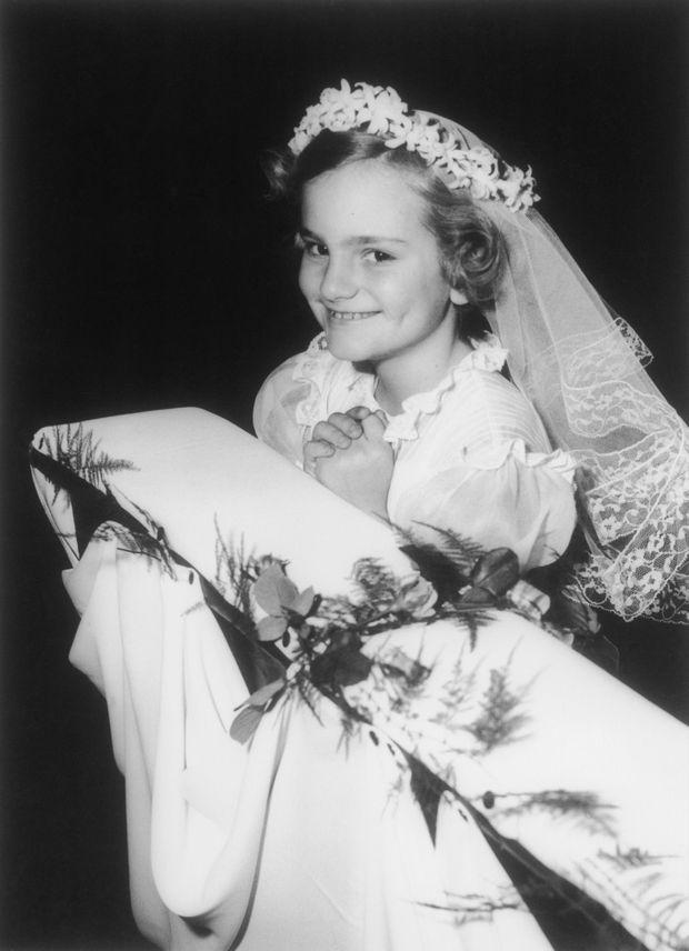Patty Hearst en 1963. L'Héritière a neuf ans.