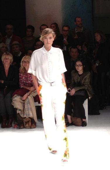 Paul and Joe pantalon blanc fleuri-