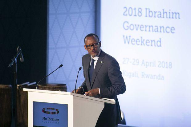 Il veut réformer l'Union africaine, Paul Kagame a Kigali, le 28 avril 2018.