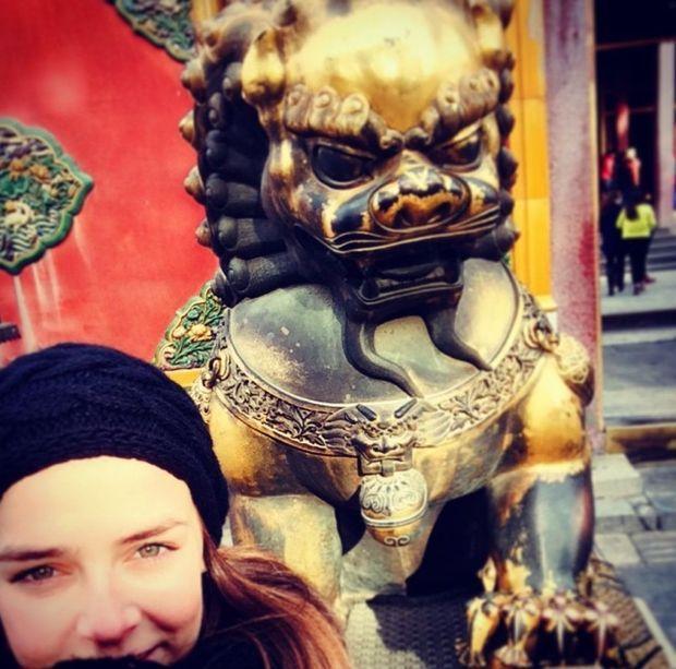 Selfie postée par Pauline Ducruet le 7 janvier 2015 sur son compte Instagram