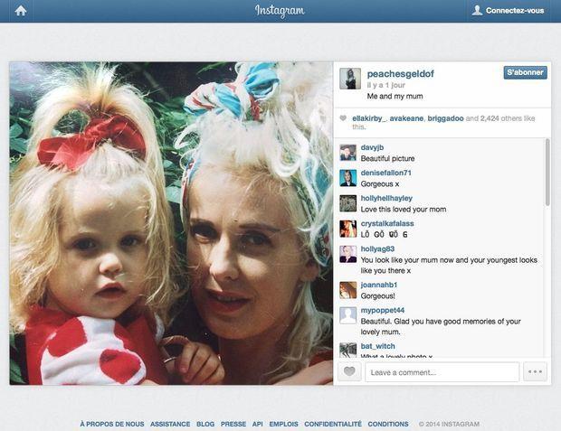 Sur Instagram, son dernier post est une photo d'elle et sa mère, Paula Yates, qu'elle a perdue à 11 ans, morte d'une overdose.