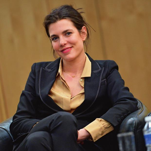 Pendant les Rencontres philosophiques de Monaco, qu'elle a créées et qu'elle présente, le 17 mars 2016.