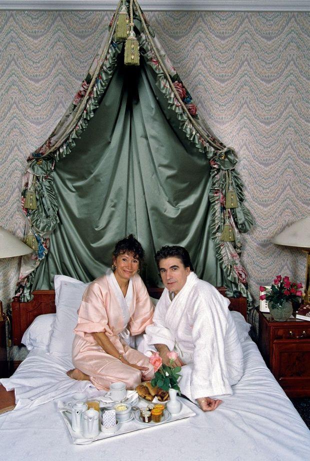 Pendant leur lune de miel à La Mamounia de Marrakech, en 1992.