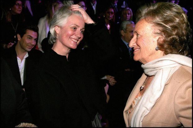 Penelope Fillon et Bernadette Chirac au défilé haute couture de la maison Dior, en 2008.