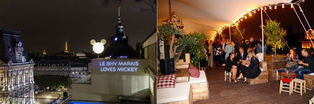 Le Perchoir Marais, pour la soirée «BHV Marais Loves Mickey Mouse».