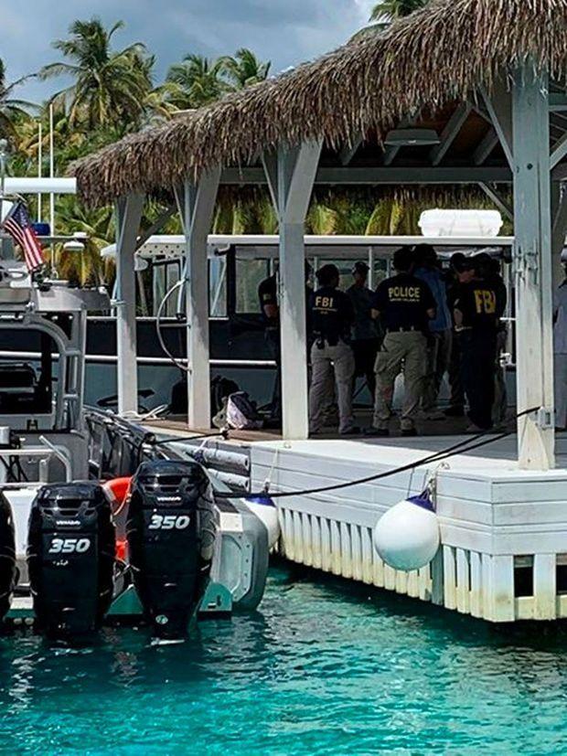Perquisition du FBI sur l'île de Little Saint-James, le 12 août.