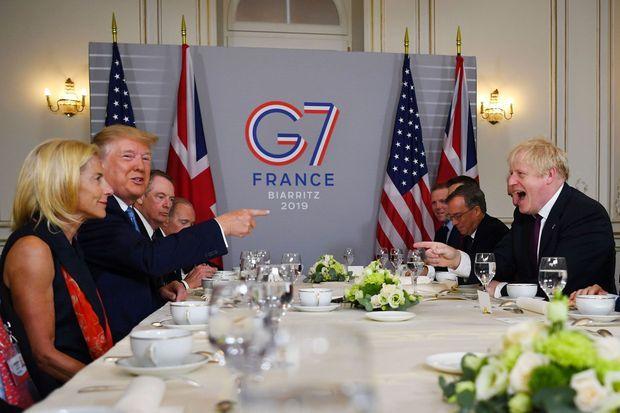 Petit-déjeuner entre Donald Trump et Boris Johnson, dimanche matin.