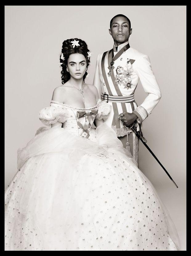 Pharrell Williams et Cara Delevingne dans une fiction historique dans l'empire Austro-Hongrois, par Karl Lagerfeld.