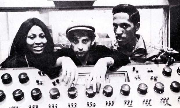 Phil Spector avec Ike & Tina Turner en 1966.