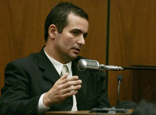 Adriano De Souza, le chauffeur de Phil Spector et témoin clef du procès, en mai 2007.