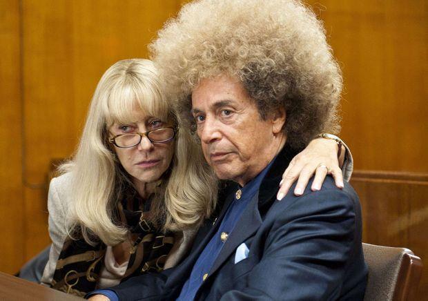 Al Pacino en Phil Spector, et Helen Mirren dans le rôle de son avocate Linda Kenney Baden, dans le téléfilm de la chaîne HBO consacré au procès, en 2013, «Phil Spector».