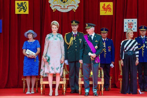 Philippe et la Reine Mathilde, au défilé de la fête nationale le 21 juillet.
