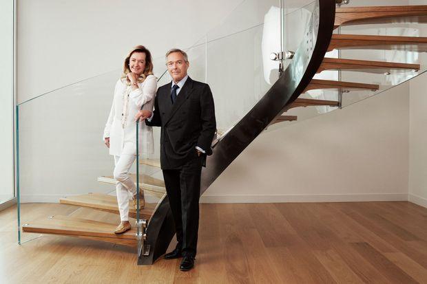 Caroline Scheufele, en charge de l'activité joaillerie de Chopard, et Karl-Friedrich Scheufele, l'horloger de la maison. Une sœur et son frère, les deux vice-présidents de Chopard.